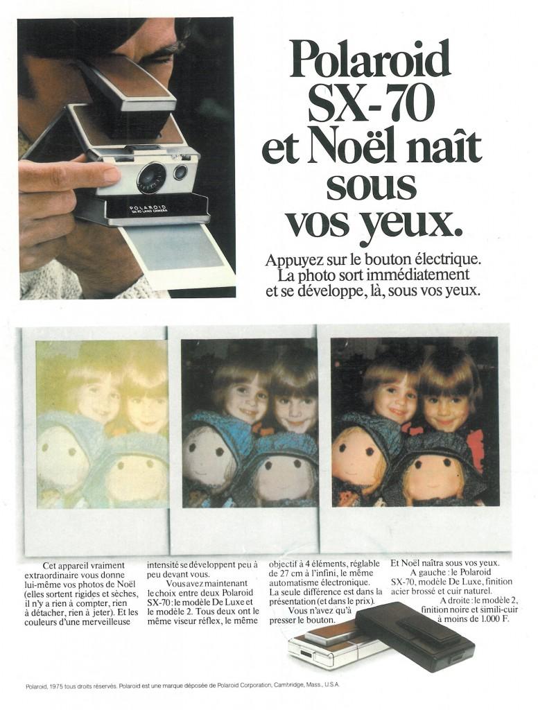 Pub Polaroid SX-70