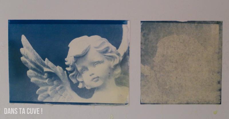 A gauche : papier aquarelle habituelle. A droite : papier du kit.
